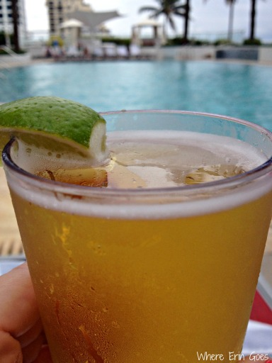 Corona Light poolside at the Hilton Fort Lauderdale Beach Resort (Photo by Erin Klema)
