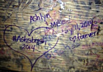 We left our mark at Tootsie's. (Photo by Erin Klema)
