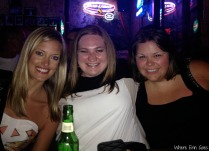 From left, Ashlyn, me and Amanda at Tootsie's.