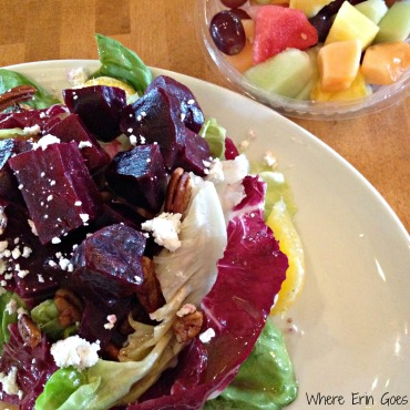 The beet salad at Wolfgang Puck Express. Delicious! (Instagram via @erinklema)