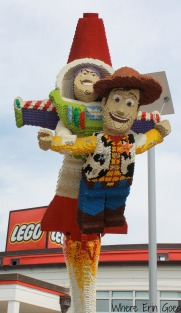 Buzz and Woody in LEGO bricks