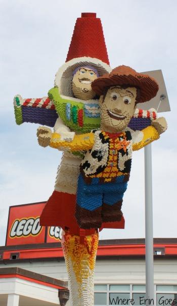 Buzz and Woody in LEGO bricks