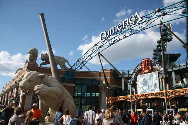 Fans head into Comerica Park on July 4, 2014. (Photo by Erin Klema)