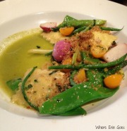 Asparagus and herb-goat-cheese ravioli at Grove in Grand Rapids, Mich. (Photo by Erin Klema)