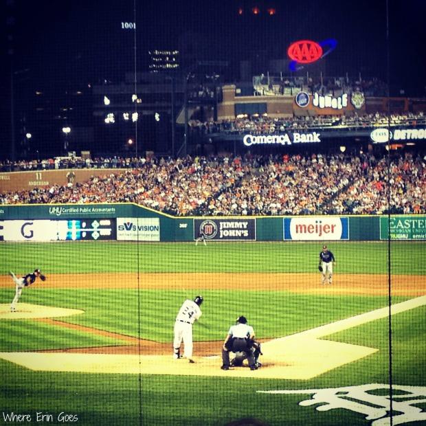 Miguel Cabrera at bat (Instagram via @erinklema)