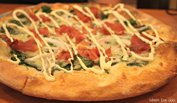 A pizza of the day at Ava's Pizzeria & Wine Bar in St. Michaels, Md. (Photo by Erin Klema)