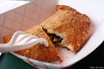 The Tio Shawn empanada from DC Empanadas at Union Market (Photo by Erin Klema)