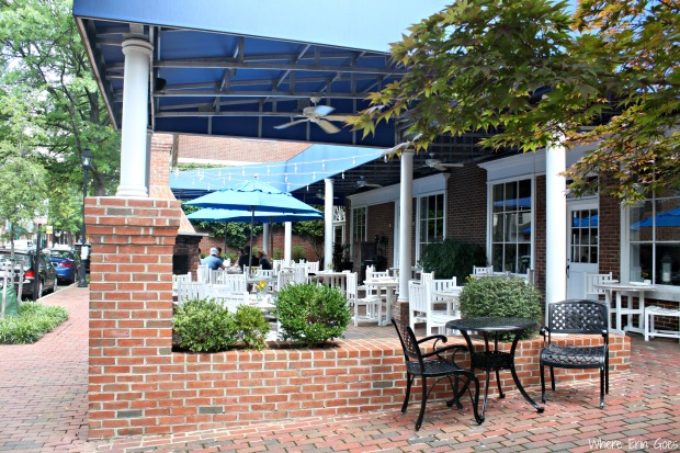 The Hunters' Tavern Terrace is perfect for alfresco dining on warm days. (Photo by Erin Klema)