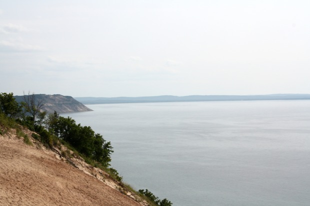 The view of Lake Michigan from the Sleeping Bear Dunes National Lakeshore. Beautiful, isn't it? (Photo by Erin Klema)