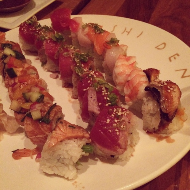 The new salmon roll, far left, is delicious! (Photo by Erin Klema)