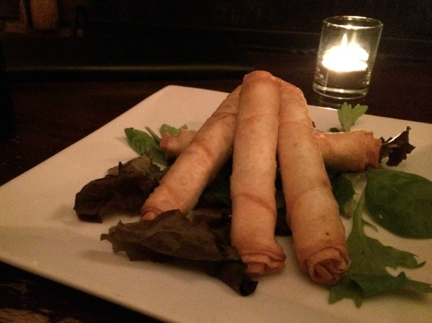 Cheese cigars small plate at the Drunken Horse in New York City (Photo by Erin Klema)
